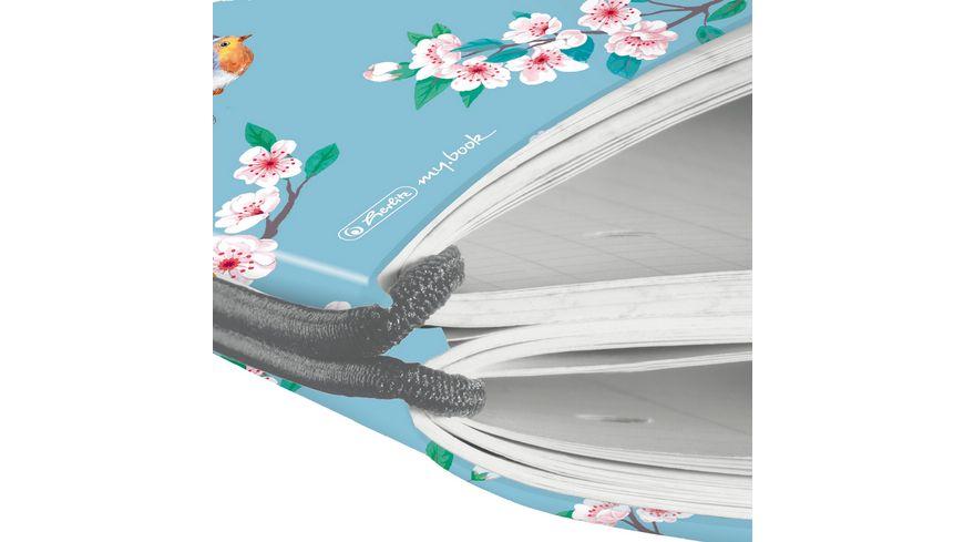 herlitz my book flex Notizheft PP A4 2x40Blatt liniert kariert Ladylike Birds