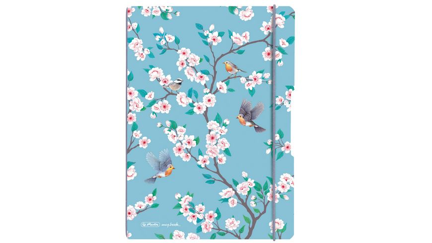 herlitz my.book flex Notizheft PP A4 2x40Blatt liniert/kariert Ladylike Birds