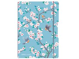 herlitz my book flex Notizheft PP A4 2x40Blatt liniert kariert Ladylike Birds