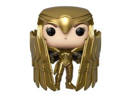 Funko POP Wonder Woman 1984 Wonder Woman Golden Armor Shield Metallic