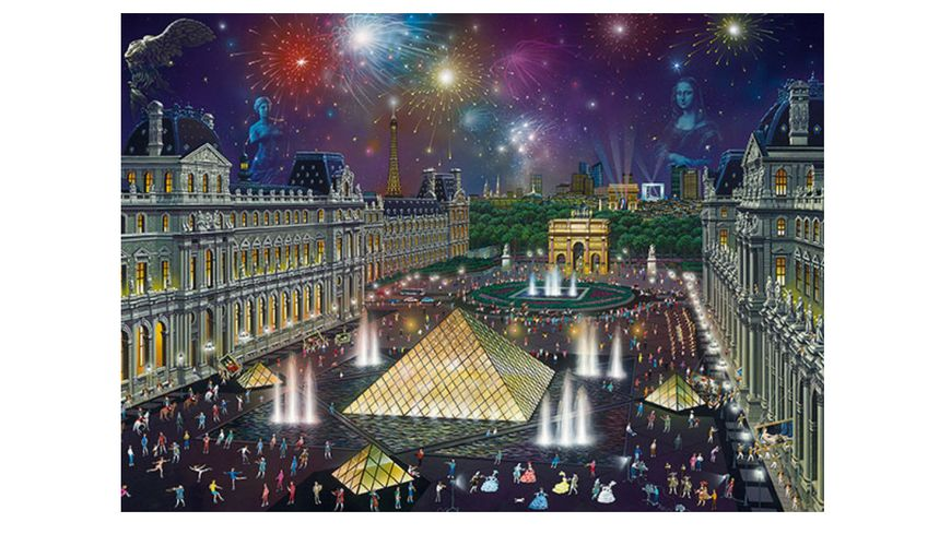 Schmidt Spiele Erwachsenenpuzzle Alexander Chen Feuerwerk am Louvre 1000 Teile