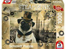 Schmidt Spiele Erwachsenenpuzzle Markus Binz Steampunk Hund 1000 Teile