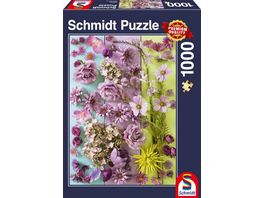 Schmidt Spiele Erwachsenenpuzzle Violette Blueten 1000 Teile