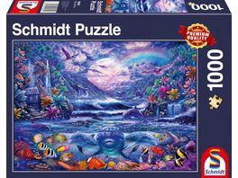 Schmidt Spiele Erwachsenenpuzzle Mondschein Oase 1000 Teile