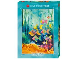 Heye Standardpuzzle 1000 Teile Shoal of Fish Lovely Times
