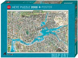 Heye 2000 Teile Puzzle City of Pop Map Art