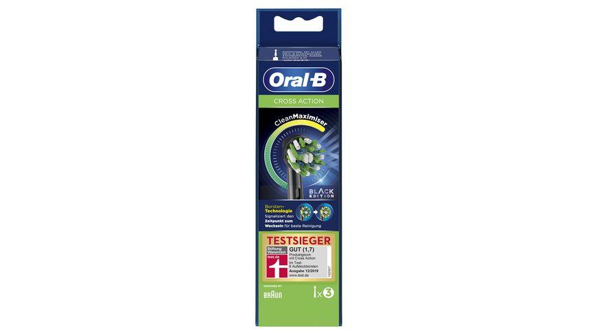 Oral B Aufsteckbuersten Cross Action 3er BLACK CleanMaximizer