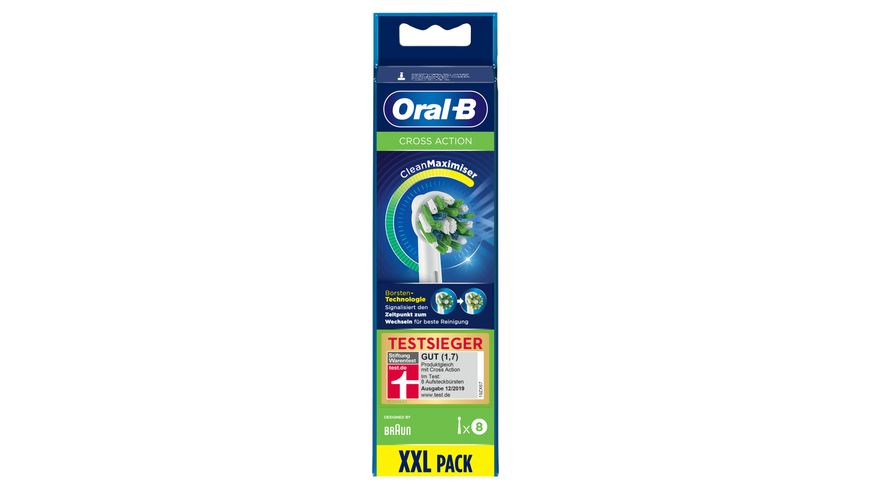 Oral B Aufsteckbuersten Cross Action 8er CleanMaximizer