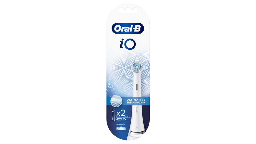 Oral B Aufsteckbuersten iO Ultimative Reinigung WHITE 2er