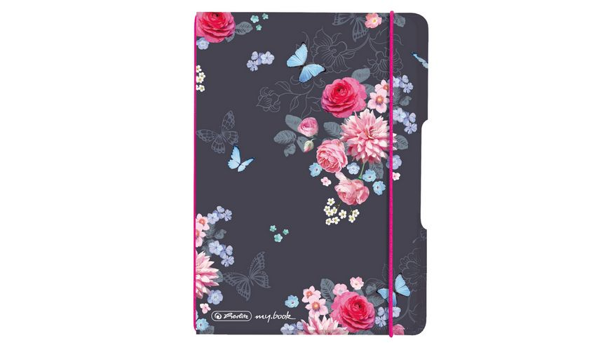 herlitz my.book flex Notizheft PP A6 40Blatt kariert Ladylike Flowers
