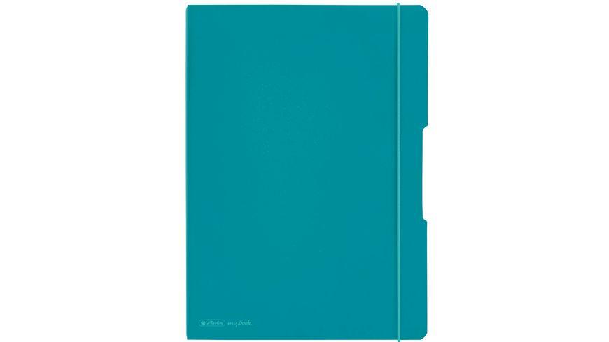 herlitz my.book flex Notizheft PP A4 2x40Blatt liniert/kariert türkis