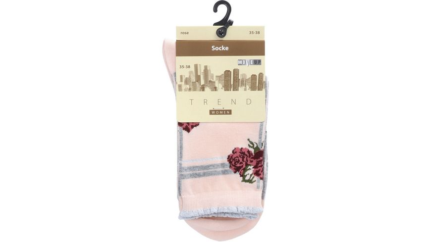 MOVE UP Damen Socken Rosen