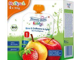 Beauty Baby Quetschie kiddys Multipack Birne Erdbeere in Apfel