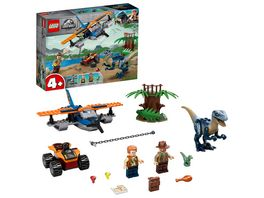 LEGO Jurassic World 75942 Velociraptor Rettungsmission mit dem Doppeldecker