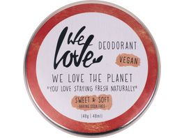 WE LOVE THE PLANET Natuerliche Deodorant Creme Sweet Soft