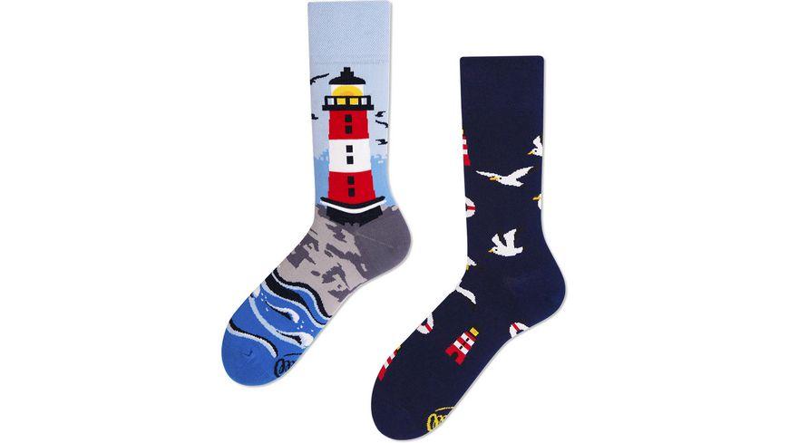 MANY MORNINGS Unisex Socken Nordic Lighthouse 1 Paar