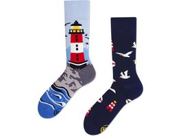 MANY MORNINGS Unisex Socken Nordic Lighthouse 1 Paar
