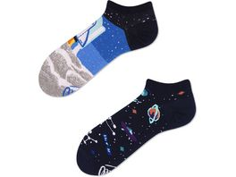 MANY MORNINGS Unisex Sneaker Socken Space Trip
