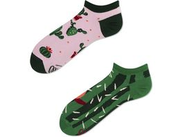 MANY MORNINGS Unisex Sneaker Socken Summer Cactus