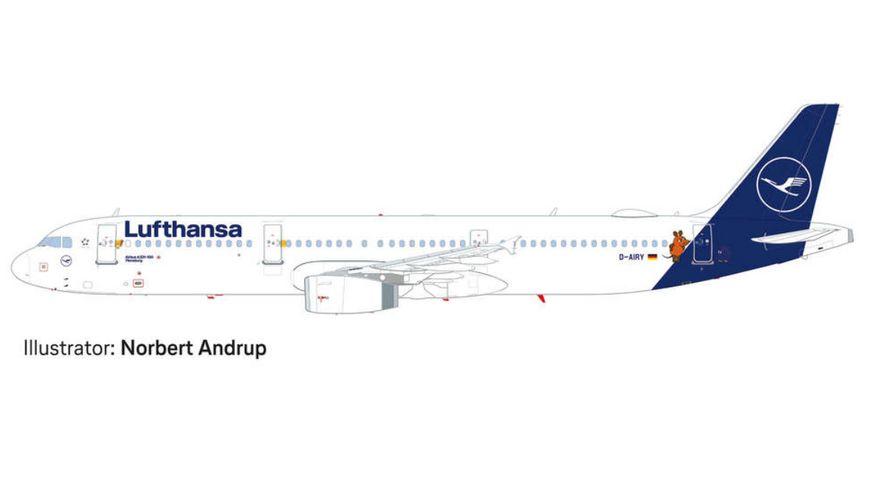 Herpa 533621 Wings Lufthansa Airbus A321 Die Maus