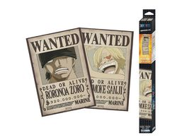 ONE PIECE 2er Set Chibi Poster Wanted Zoro Sanji