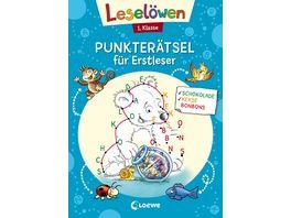 Leseloewen Punkteraetsel fuer Erstleser 1 Klasse Blau Lernspiele und Raetsel fuer Kinder ab 6 Jahre
