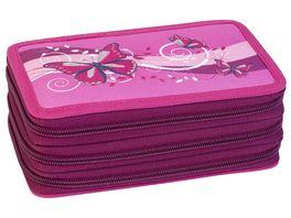 EBERHARD FABER Triple Decker Schueleretui Schmetterling pink