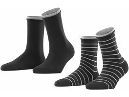 ESPRIT Damen Socken Easy Stripe 2er Pack