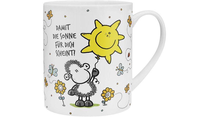 sheepworld XL Tasse mit Blumensamen Damit die Sonne fuer Dich scheint