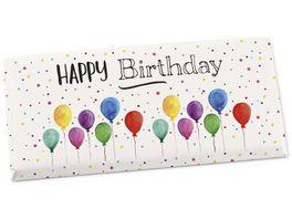 Geschenk fuer Dich Schokolade Happy Birthday