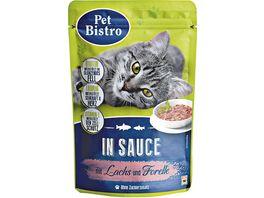 Pet Bistro Stueckchen in Sauce mit Lachs und Forelle