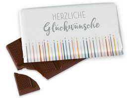 Geschenk fuer Dich Schokolade Herzliche Glueckwuensche