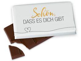 Geschenk fuer Dich Schokolade Herz Schoen dass es Dich gibt