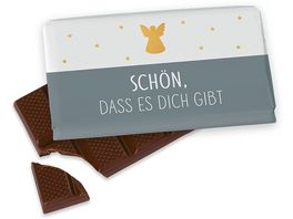 Geschenk fuer Dich Schokolade Engel Schoen dass es Dich gibt