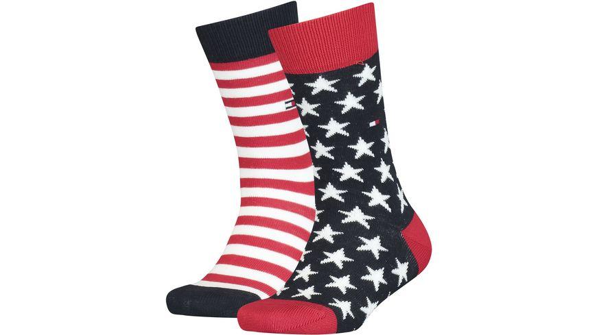 TOMMY HILFIGER Kinder Socken Stars And Stripes 2er Pack