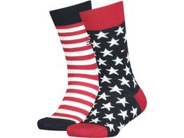 TOMMY HILFIGER Kinder Socken Stars And Stripes 2er Pack
