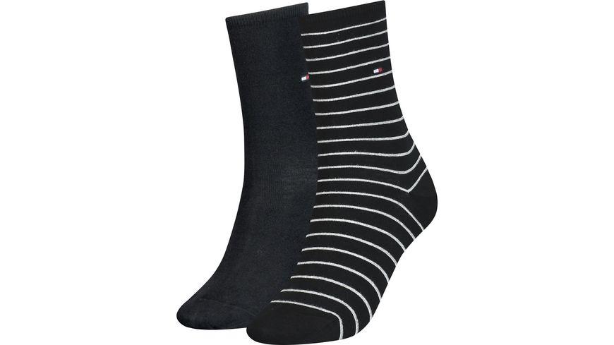 TOMMY HILFIGER Damen Socken Small Stripe 2er Pack