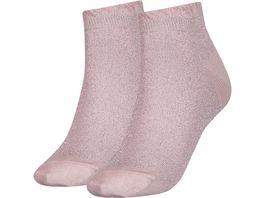 TOMMY HILFIGER Damen Sneaker Socken Lurex 2er Pack