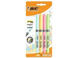 BIC Textmarker Intensity Pastell 4er Etui
