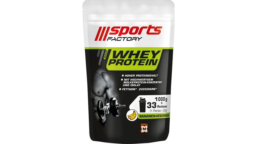 SPORTS FACTORY Whey Protein Banane
