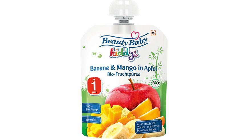 Beauty Baby Quetschie kiddys Banane & Mango in Apfel ab 1 Jahr