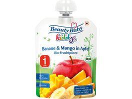 Beauty Baby Quetschie kiddys Banane Mango in Apfel ab 1 Jahr
