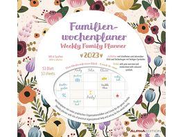 Familien Wochenkalender Flowers 2021 30 5x30 6cm