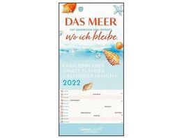 GreenLine Sprueche 2021 Familienplaner 22x46cm
