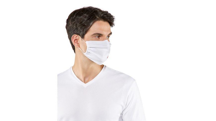 FALKE Mund Nasen Maske weiss 2er Pack