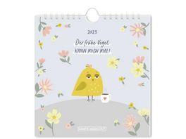 GRAFiK WERKSTATT Postkartenkalender 2021 Der fruehe Vogel