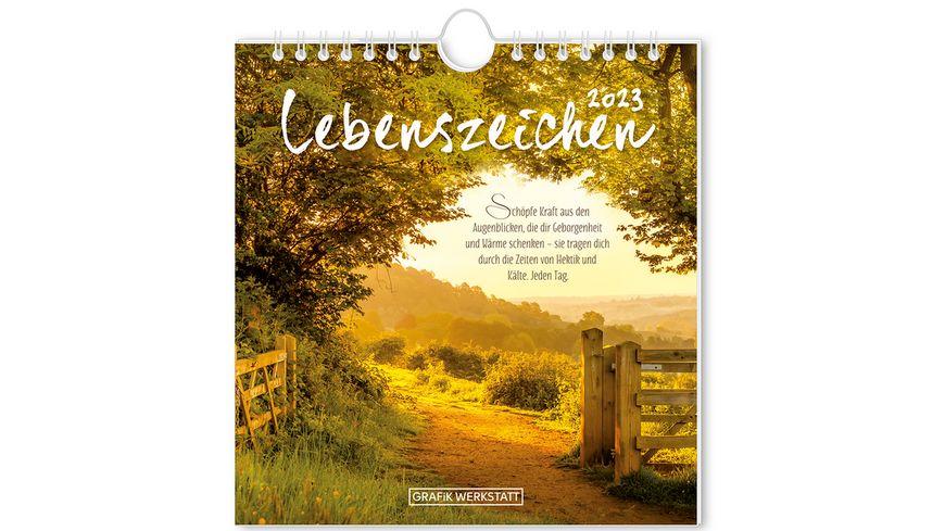 GRAFiK WERKSTATT Postkartenkalender 2021 Lebenszeichen