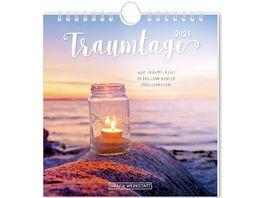 GRAFiK WERKSTATT Postkartenkalender 2021 Tagtraeume