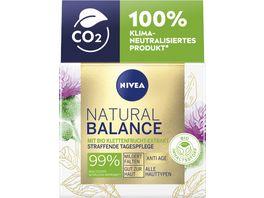 NIVEA Natural Balance Straffende Tagespflege mit Bio Klettenwurzel
