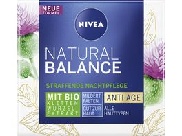 NIVEA Natural Balance Straffende Nachtpflege mit Bio Klettenwurzel